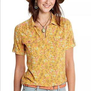 Matilda Jane Happy and Free Womens Shirt Blouse L